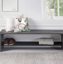 loon peak arocho rustic solid reclaimed wood storage bench