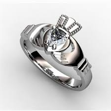claddagh engagement ring claddagh ring white asu2 25