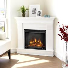real flame chateau 40 inch corner electric fireplace with mantel