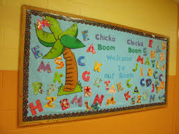 Classroom Soft Board Decoration Ideas Scrap And Teach New Chicka Chicka Boom Boom Bulletin Board