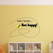 bumble bee wall art shenra com don t worry bee happy bee happy decal bumble bee decal bumble