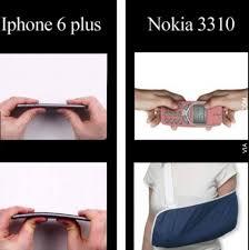 Nokia 3310 Meme - iphone 6 plus vs nokia 3310