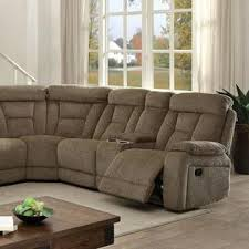 furniture of america living room reclining large family sectional