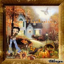 happy thanksgiving with betty boop picture 118636864 blingee