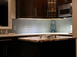 l shape kitchen design using light blue subway tile modern kitchen