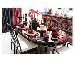 black lacquer dining room chairs 284 best furniture for sell images on pinterest living room sets