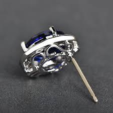 brinco zirconia mechosen splendid rhinestone stud earrings for women silver