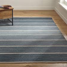 Dhurrie Rugs Definition Bold Blue Striped Wool Blend Dhurrie 5 U0027x8 U0027 Rug Dhurrie Rugs