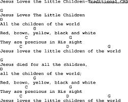 christian childrens song jesus the children
