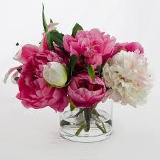 silk peonies peonies in vase choice image vases design picture
