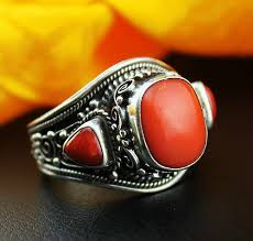 old rings silver images Handmade tibetan old silver red coral ring