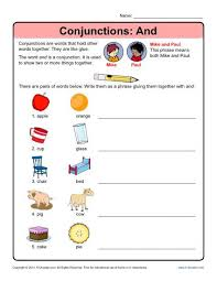 conjunctions and conjunction worksheets
