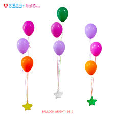 balloon weights b610 10 pcs bag free shipping colorful five balloon weights in