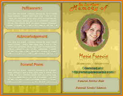 funeral program maker 5 funeral program template word itinerary template sle