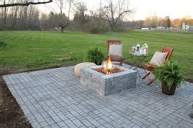 Building Stone Patio by How To Install A Natural Stone Patio With Fire Pit Chace