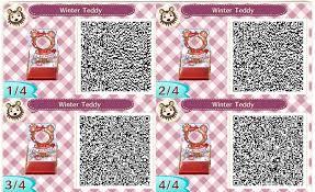 winter teddy cute new leaf qr codes pinterest qr codes