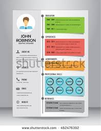 job resume cv template layout template stock vector 440311294