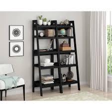 interior antique ladder bookshelf leaning ladder shelves