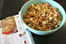 holiday bowl gingerbread chex mix diary of an addict