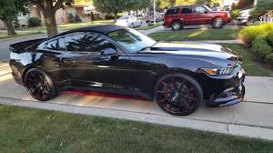 mustang 22 inch rims 2016 ford mustang with 22 staggered wheels