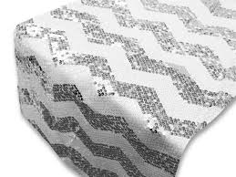 a luxurious compliment to any table the chevron sequin table