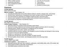 Forklift Operator Sample Resume by Resume For A Forklift Operator Resume Templates