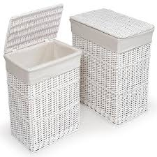 wicker laundry hampers funky buys funkybuys large white wicker rectangular laundry basket
