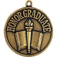 graduation medallion honor graduate gold large medal jones school supply