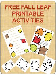 free fall leaf printable game and activity pack nature scavenger