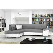 canapé d angle blanc et gris verso blanc gris canapé d angle gauche convertible achat vente