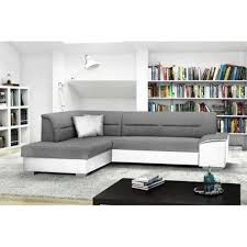 canap d angle blanc gris verso blanc gris canapé d angle gauche convertible achat vente