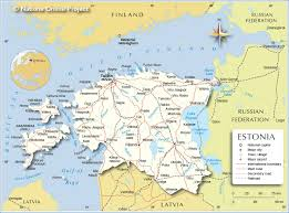 Map Of Southern Europe by Political Map Of Estonia Nations Online Project