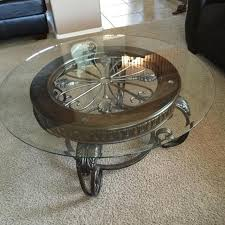 Ashley Furniture Glass Coffee Table Find More Iron And Wood Coffee Table With Glass Top From Ashley
