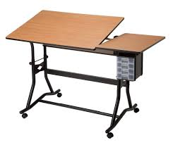 Drafting Table Base Split Top Drafting Drawing And Table Black Base Cherry