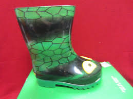 light up rain boots new skechers waterpout drip drops boys size 6 light up rain
