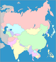 map of asai interactive map of asia asia map showing countries and seas