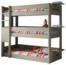 Three Tier Bunk Bed Pearl Grey Three Tier Bunk Bed Solid Pine 3 Tier