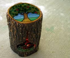 tree stump planters tree stump side table with fireplace 7 steps with pictures