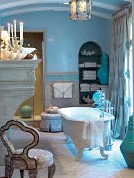 cobalt blue bathroom decor faucet under the large rectangle mirror