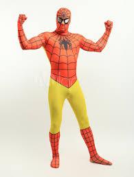halloween orange yellow lycra spandex zentai suit inspired by