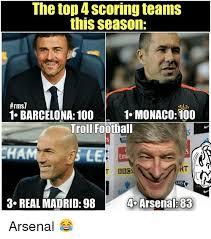 Top 100 Internet Meme - the top 4 scoring teams this season rms7 1 monaco100 1 barcelona