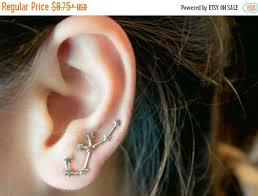 constellation earrings new year sale aquarius constellation earrings ear cuffs aquarius