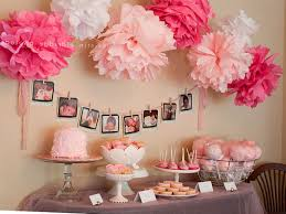 simple girl baby shower decorations ideas home design great modern