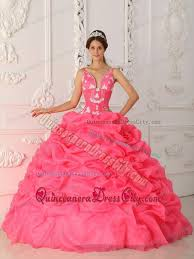 quinceanera dresses with straps appliqued and flowery straps quinceanera gown in watermelon