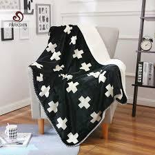 canap molletonn parkshin noir croix couverture élégant sherpa confortable jette