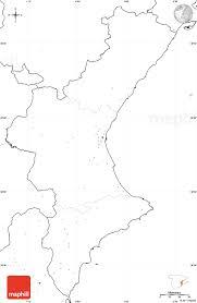 Valencia Spain Map by Blank Simple Map Of Communidad Valencia No Labels