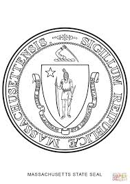 massachusetts state seal coloring page free printable coloring pages