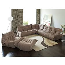 Sectional Sofa With Ottoman Modern Sofas Wave 5 Pc Sectional Ottoman Eurway