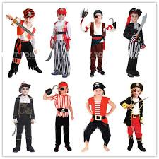 Youth Boys Halloween Costumes Wholesale Kids Boys Pirate Costumes Cosplay Costumes Boys
