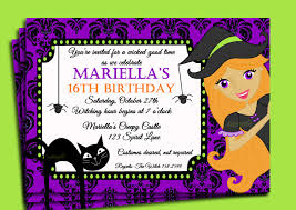 pretty mariellas 16 th with free halloween party invitation